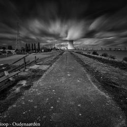 Spookstad Doel in zwart-wit