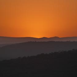 Zonsondergang Zuid-Afrika