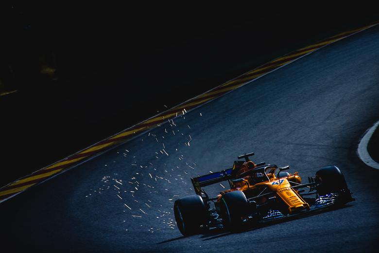 Lando Norris tijdens de formule 1 grand prix van België - Lando Norris, Mclaren formule 1 team tijdens formule 1 grand prix van België in spa francorc