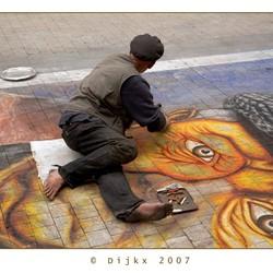 Straat artiest