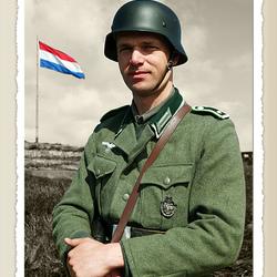Officier van de Wehrmacht in Nederland