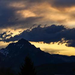 Zonsondergang Oostenrijk