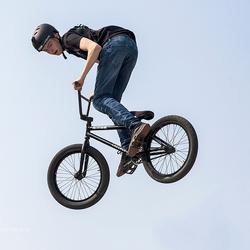 BMX fiets springen