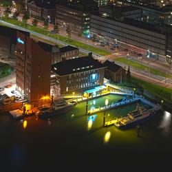 De rivierpolitie Rotterdam hdr