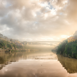 Porto in ochtendlicht