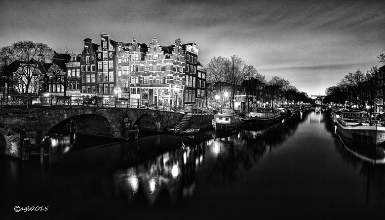Brouwersgracht. - Amsterdam : Brouwersgracht in zwartwit.