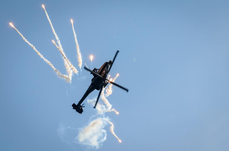 Wings of Freedom - Op de vliegshow gaf de Luchtmacht een show weg met een Apache. Vooral het moment dat ze de flares afschoten waren spectaculair.