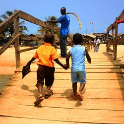 Ghana boys going to school