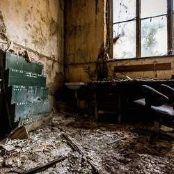 Een verlaten bureau