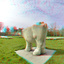 Beeld Stier het Lage Land Rotterdam 3D Fish-eye D7000  cha-cha   anaglyph stereo red/cyan