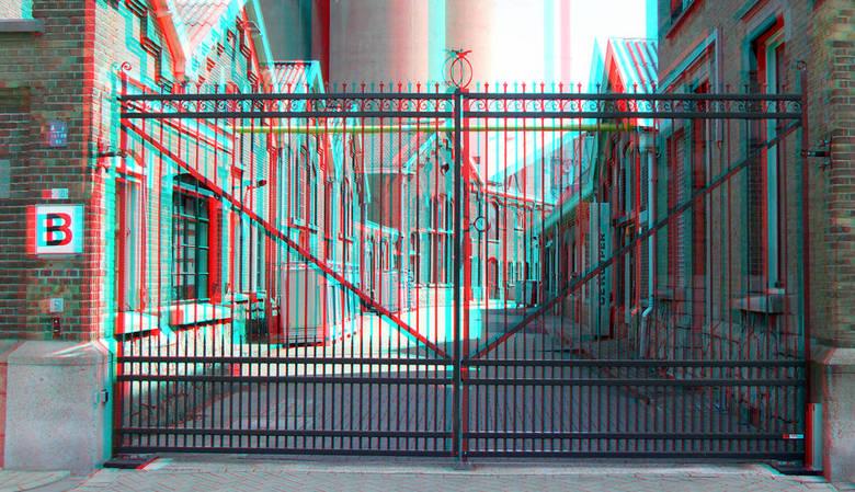 poort deKuyper Schiedam 3D - de Kuyper schiedam<br /> anaglyph stereo red/cyan
