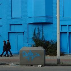 Meer blauw op straat
