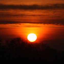 Mooie warme zonsondergang.