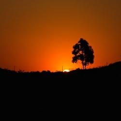 Zonsondergang nu in panorama