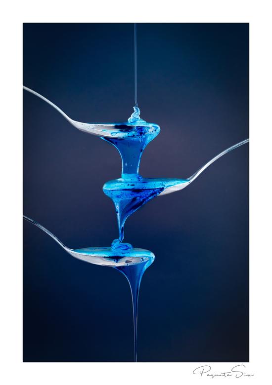 blue liquid -