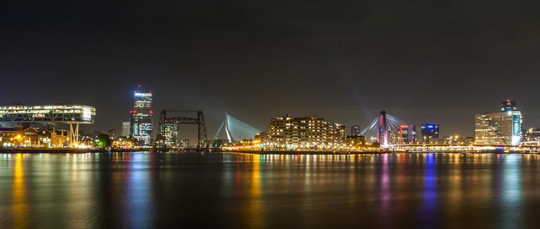Bewerking: Rotterdam - dag en nacht kleurrijk (2018 versie)