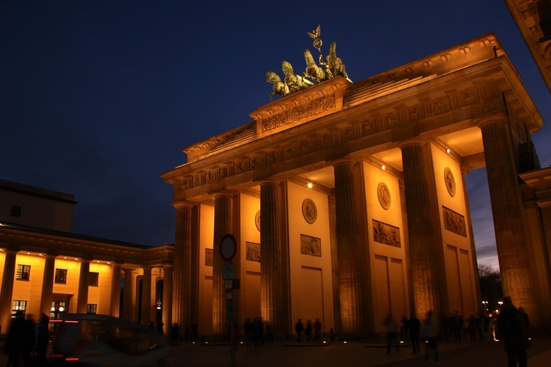 Brandenburger Tor 's avonds