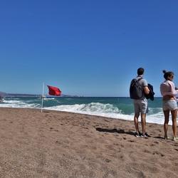 strand, water en wind