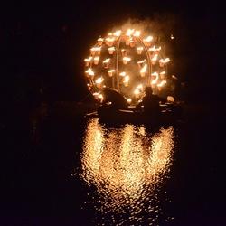 vuur op het water