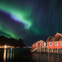 The lights over Reine