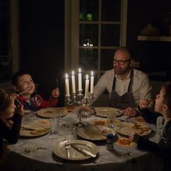 Diner bij kaarslicht