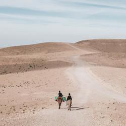 Uitzicht in de steenwoestijn