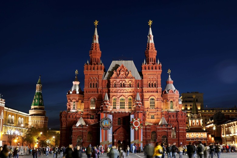 Rode Plein Moskou - Rode Plein 1  mei 2019 's avonds.
