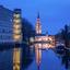 Grote kerk Breda in de spiegel