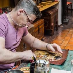 Joodse wijk Cordoba leerkunstenaar