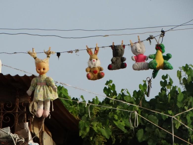 Wasdag - Een wasdroger is niet nodig. Wasdag in Santiago de Cuba.