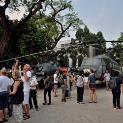 Het oorlogsmuseum in Ho chi minh city.