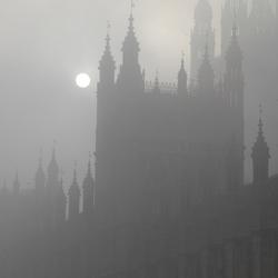 Londen in de mist
