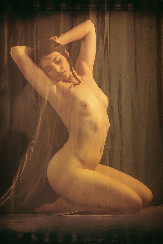 vintage - behind curtains