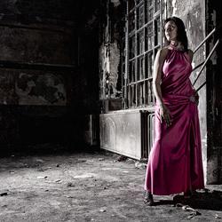 vivid dress...