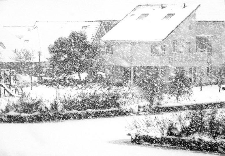 Een winterse dag in Leeuwarden - Heel veel sneeuwval