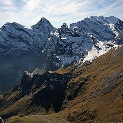 uitzicht over de Zwitsere alpen
