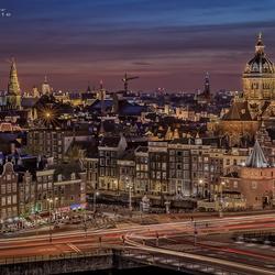 The skyline van Amsterdam