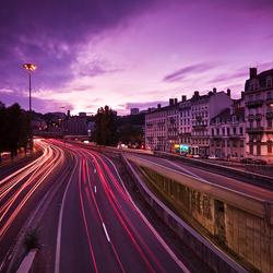 Lights in Dijon by night