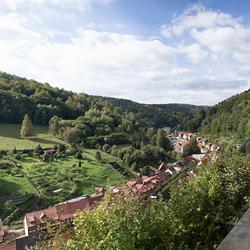Uitzicht vanaf slot Stolberg Harz