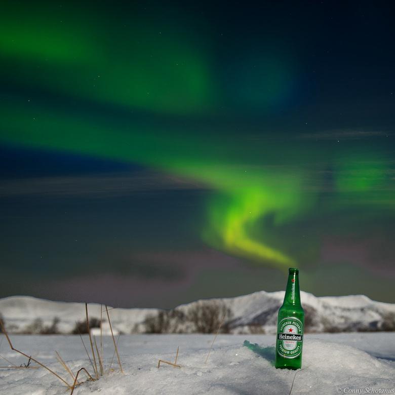 Wij hebben..... - Vorige jaar januari ben ik naar Noorwegen op vakantie geweest. De Heineken reclame met het noorderlicht was toen net op tv. Op schip