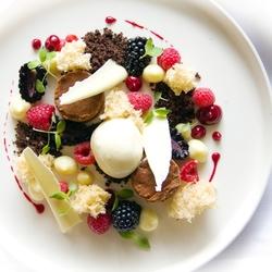 dessert bij hotel de Reiskoffer
