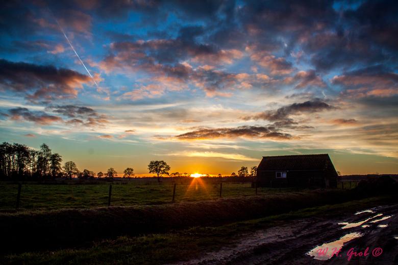 Sunset De Meente - Sunset aan De Meente in Rijssen <br /> Een van mijn favoriete plekjes in de buurt