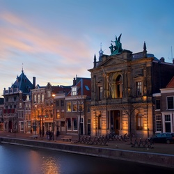 Teylers Museum at dusk
