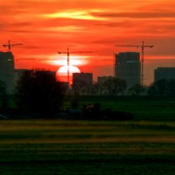 zonsopgang Almere rukt op
