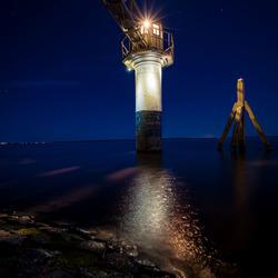 Blauw uur aan het Lauwersmeer