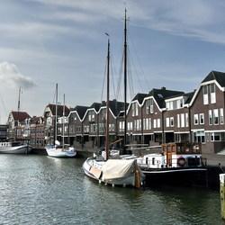 De haven van Hoorn.