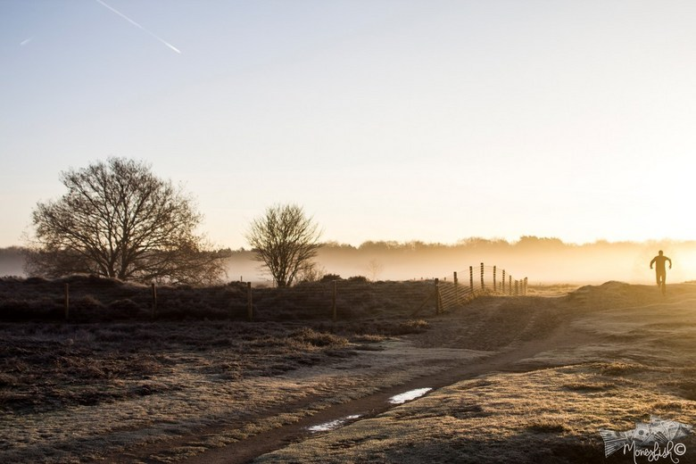 hardlopen op een koude ochtend