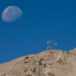 Mobiel in de Gobi woestijn