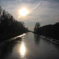 Zonsondergang in de winter