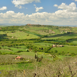 Toscane uitzicht op Pienza
